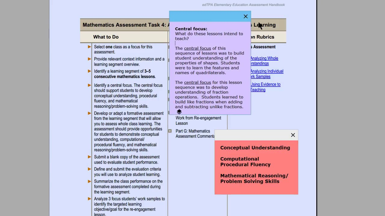edTPA with Johnnie - Math Assessment Task 4 for Elementary Education ...