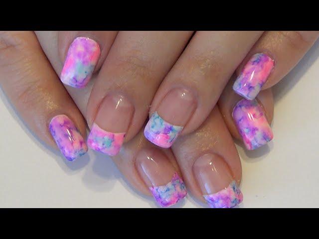 Watercolor Gel Nail Design: Sharpie Marker - YouTube