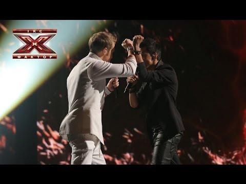 Видео, Two voices - Feel - Robbie Williams - Первый прямой эфир - Х-фактор 4 - 26.10.2013