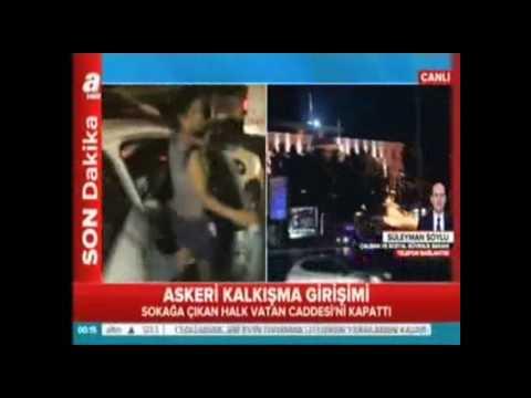 15 temmuz 2016 askeri darbe kalkışması gecesi a haber canlı yayını