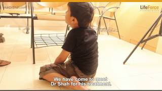 Muscular dystrophy symptom in kid, he cannot stand without support
