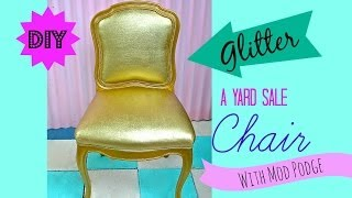 How To Glitter Furniture!