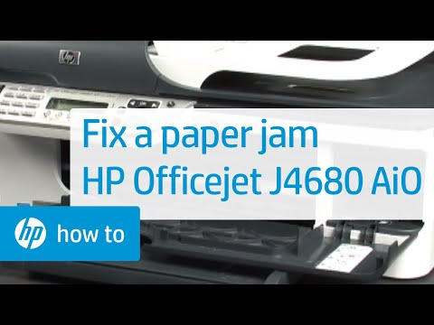 Repeat Fixing a Paper Jam - HP Officejet J4680 All-in-One