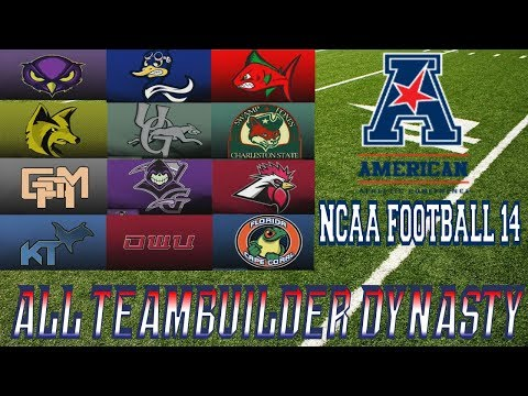 NCAA Football 14 - ALL TEAMBUILDER DYNASTY!!! - Introduction Part 1