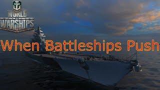 World of Warships- When Battleships Push