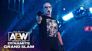 Must See! Sting \u0026 Darby Bring 20,000 Fans to their Feet in NY | AEW Dynamite Grand Slam, 9/22/21