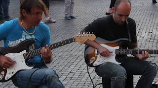 Rome Street Musicians - Sultans Of Swing (by Dire Straits), Piazzo Navona, Rome, Italy, May 10, 2015
