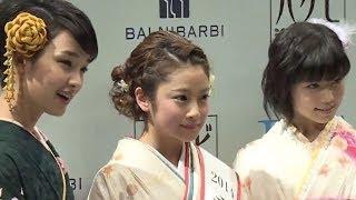 女優、小澤美里クイーンに輝く! 剛力彩芽も登場「きものクイーンコンテ...