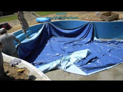 New Swimming Pool Liner Installation Vermiculite Hard