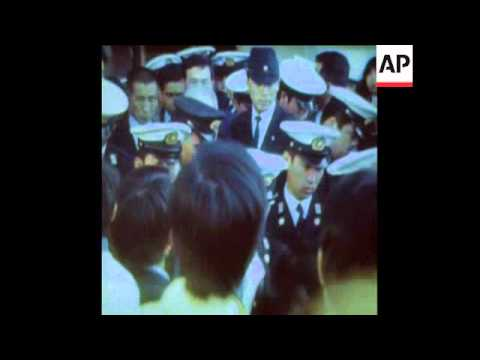 SYND 4-4-74 ONODA ARRIVES IN HOME TOWN OF KAINAN