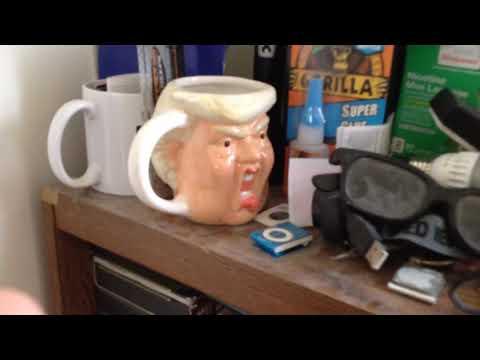 Donald trump mug and gorilla super glue