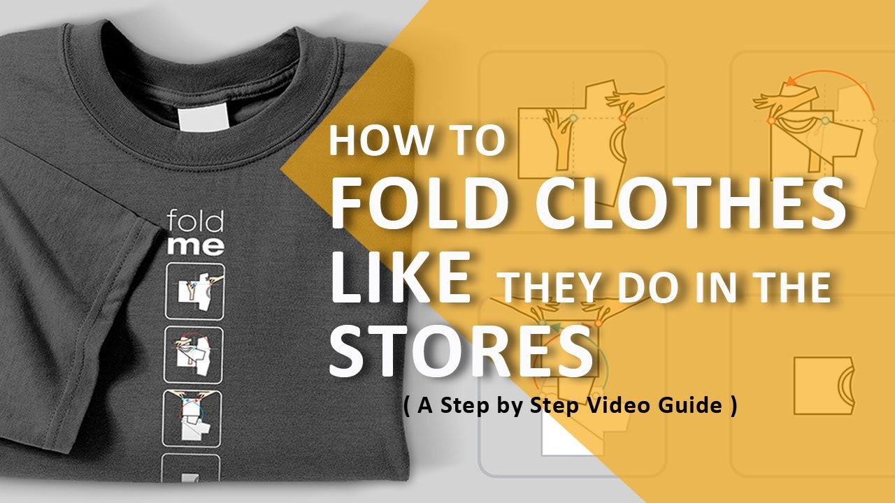 how to fold shirts t shirts like in stores step by step guide youtube. Black Bedroom Furniture Sets. Home Design Ideas