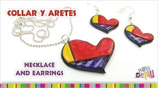 (WINNER 8 MOULDS) Necklace and earrings / (GANADOR 8 MOLDES!) Dije y anillos Thumbnail