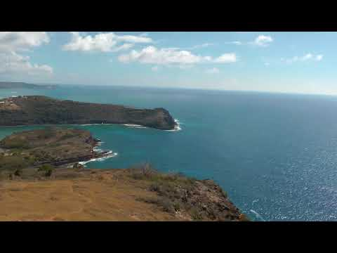 scenic views of Antigua and the Caribbean Sea from the Blockhouse