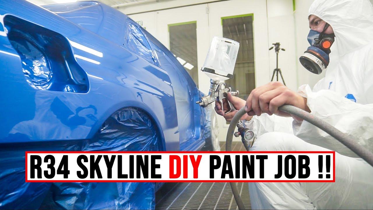 DIY R34 Skyline Paint Job !!   Poor Man's GTR [EP22]