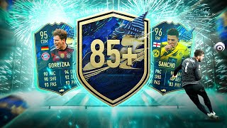What do you get from 15 Guaranteed 85+ TOTS Bundesliga Player Pick Packs?