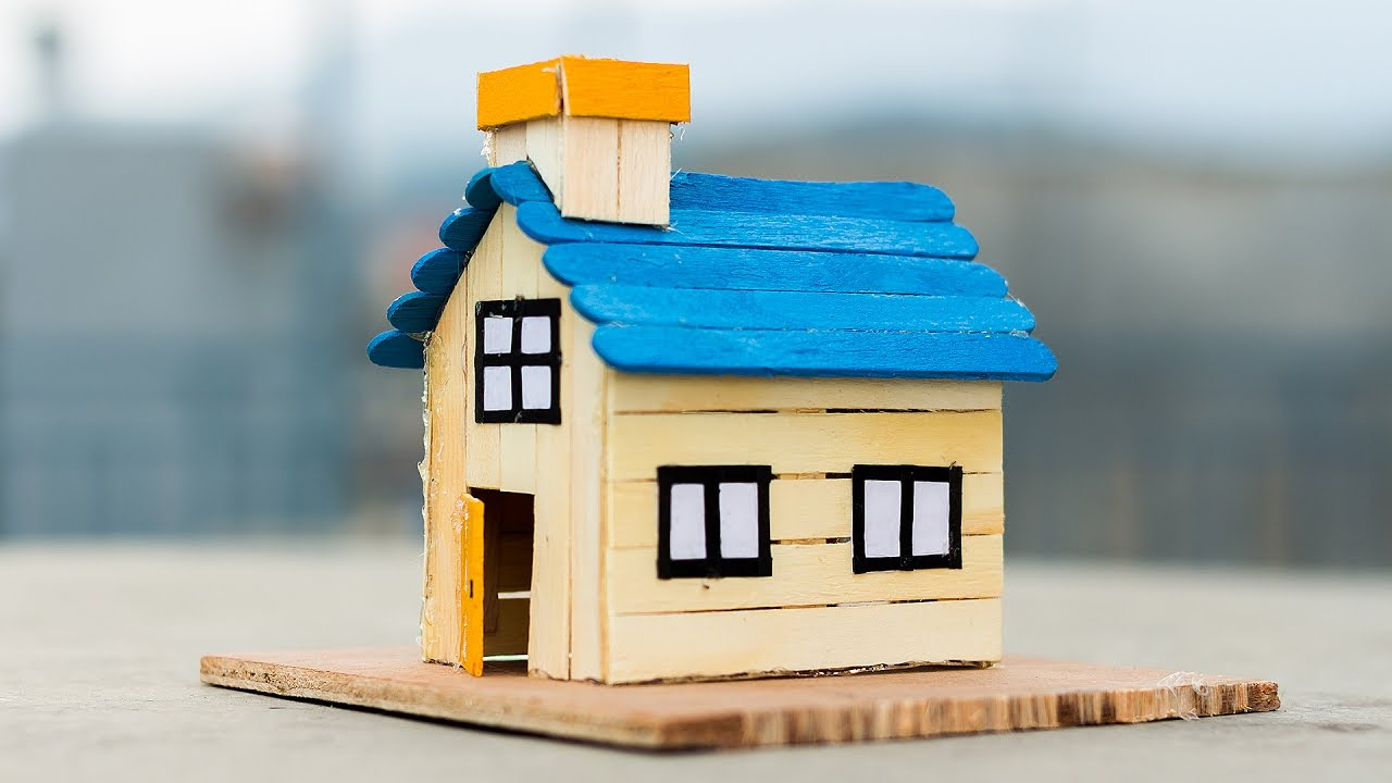 How to make a popsicle stick house youtube - Things to know when building a house ...