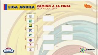 ¡EN VIVO! Mira aquí el sorteo de los cuartos de final de la Liga Aguila 2017-1
