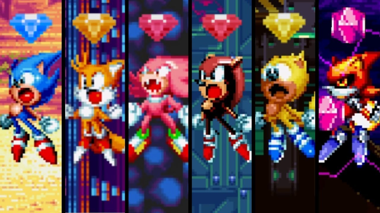 Sonic Mania Plus All Characters Super Forms Youtube