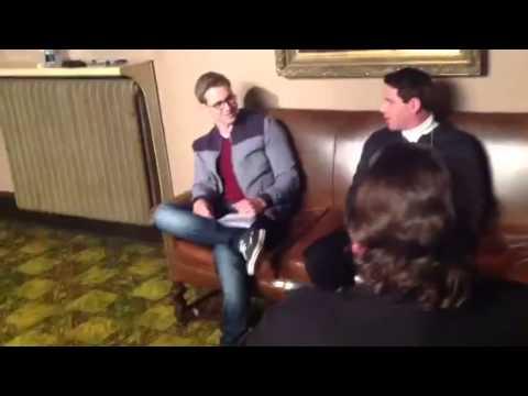 "Actor Richard Dutcher, Randy Wayne, Nathan Day and Joseph James on the set of ""The Freemason"""