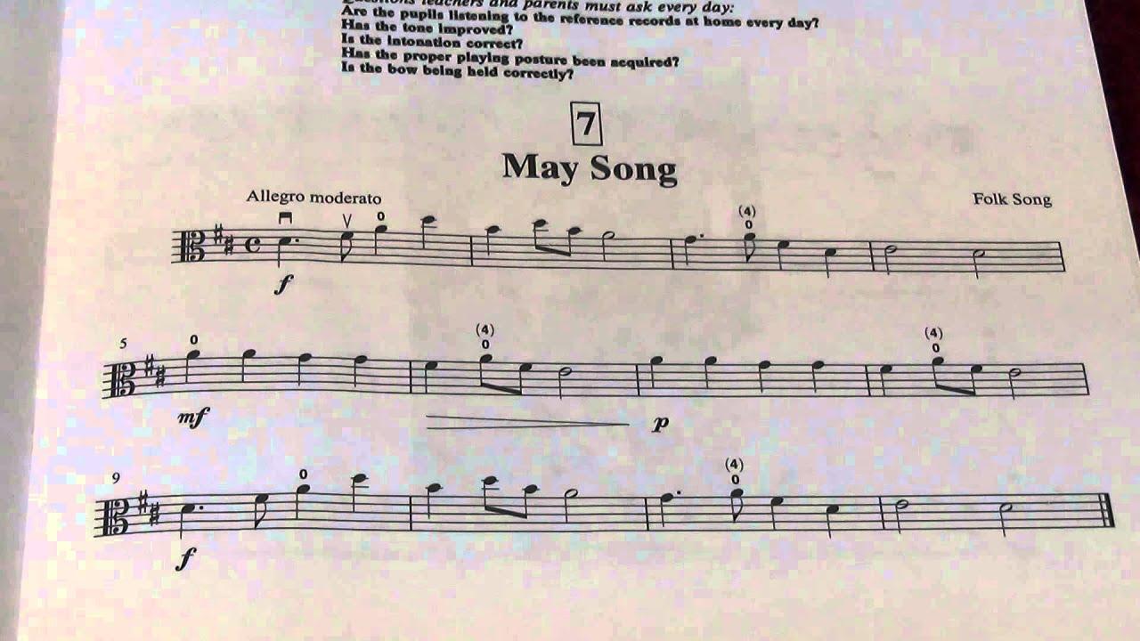Suzuki May Song Cello
