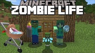 Minecraft MARK MY FRIENDLY ZOMBIE FINDS HIS FAMILY !! FAMILY TREE HOUSE !! Minecraft Mods