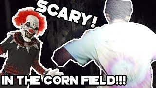 Scaring People In A Haunted Corn Maze! *real Reactions!*