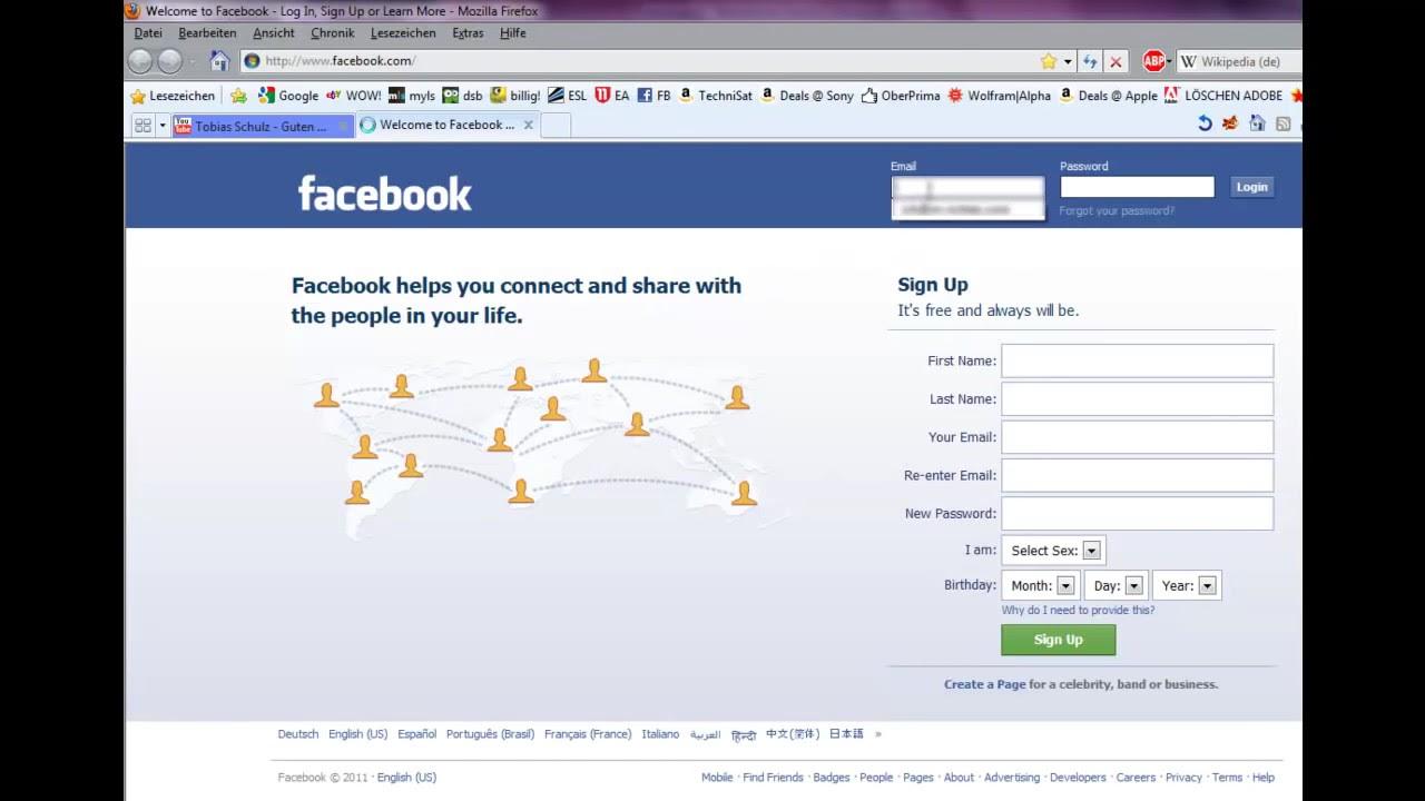 Einloggen bei Facebook ohne Passwort-Eingabe - YouTube