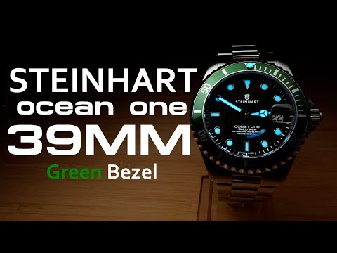 Steinhart Ocean One 39 Green Bezel - Review, Measurements, Blue Lume, Deliriousness