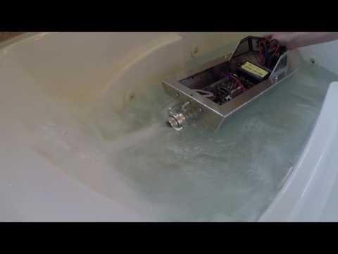 "Aluminum RC Jet Boat - (part 1): Intro HUGE Jet Drive!!! 32"" MozzieCraft (1/4 to 1/3 throttle)"