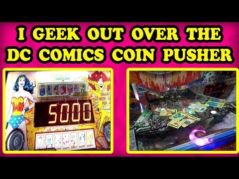 NEW DC COMICS COIN PUSHER! Heroes and Villain sets together are 10,000 tickets!  Cool gameplay! Kids