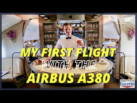 SHOWERING IN 36,000 FT FIRST TIME FLYING EMIRATES A380 IN BUSINESS CLASS | PILOTPATRICK