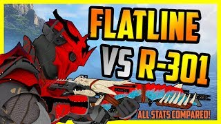 Apex Legends R301 vs Flatline - Which is BEST In Season 3? | DPS, Anvil Receiver, Tested!