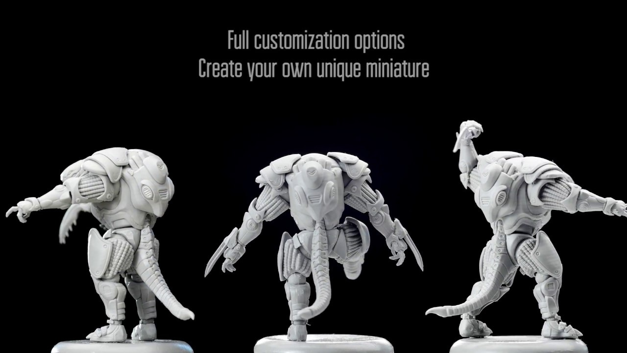 Free pose miniatures How to assemble your own unique miniature  Sci fi  wargame miniature`s review