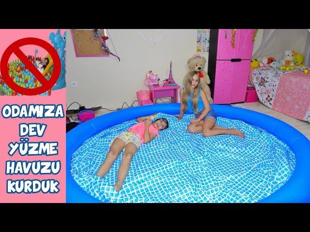 ODAMIZA DEV YÜZME HAVUZU KURDUK TOP HAVUZUNU KALDIRDIK - Eğlenceli Çocuk Videosu - Funny Kids Videos