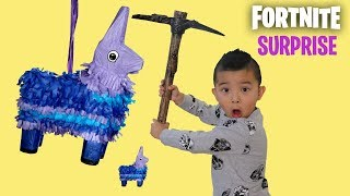 FORTNITE PINATA SURPRISE In Real Life Smashing Fun With CKN Toys