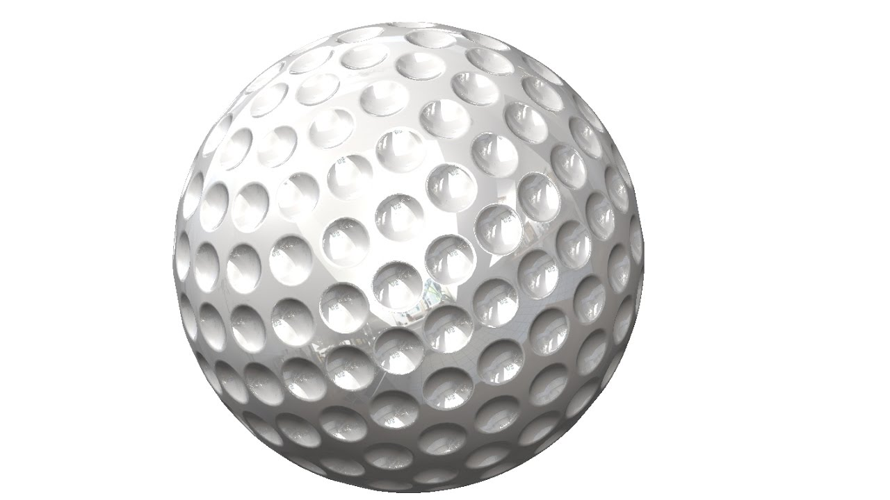 how to draw a golf ball in solidworks