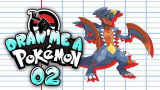 DRAW ME A POKEMON - Speed Painting #02 - Mega Carchacrok / garchomp
