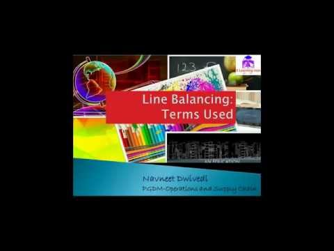 Line Balancing: Terms Used:Takt time ,cycle time,lead time
