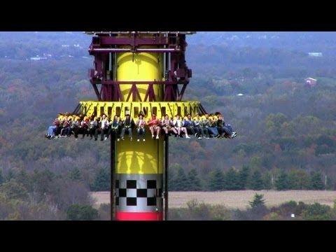 Drop Tower: Scream Zone offride HD Kings Island