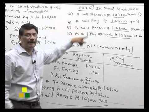 Arihant Institute M N Monesir Accounts Joint Venture