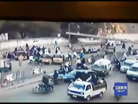 CCTV footage of accident on MA Jinnah road
