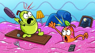 Fruits Save The City From Slime || Animated Cartoons | Pear Couple