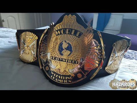 Real WWF Winged Eagle Dual Plated World Championship Title Belt
