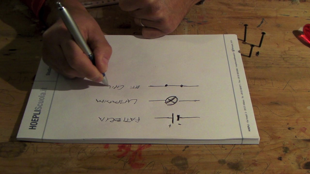 Simboli Schema Elettrico Unifilare : Significato dei simboli nei circuiti elettrici youtube