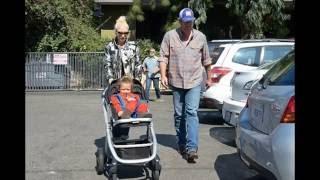 gwen stefani and blake shelton take two year old apollo to hardware store