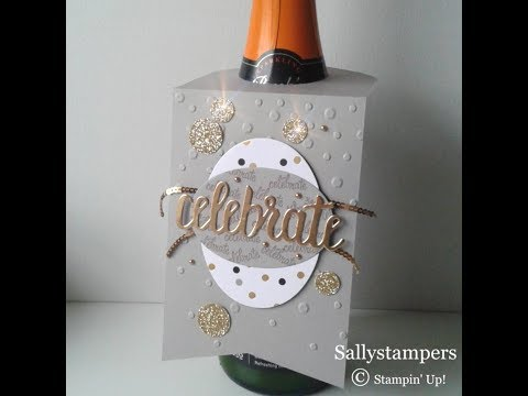 Wine Bottle Celebration Gift Tag