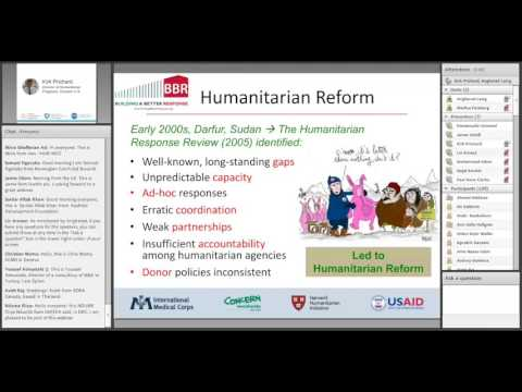 Humanitarian Coordination: The humanitarian coordination architecture at country and regional levels