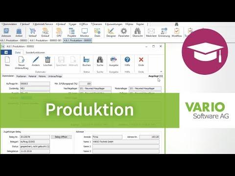 Produktion: Produktionsaufträge in der VARIO 8 Warenwirtschaft anlegen | Tutorial thumbnail