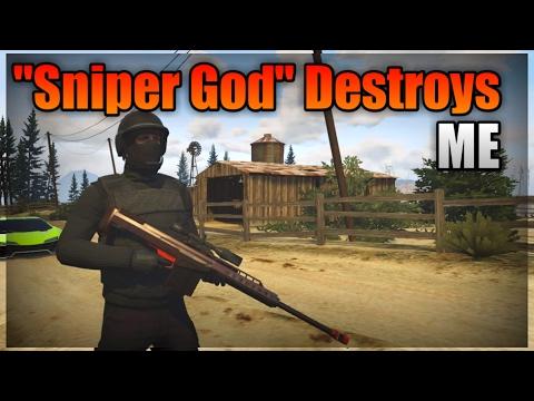 Sniper God Destroys Me On GTA 5 Online
